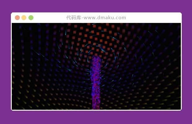 js+css3动画粒子旋涡特效_js动画_css3动画特效