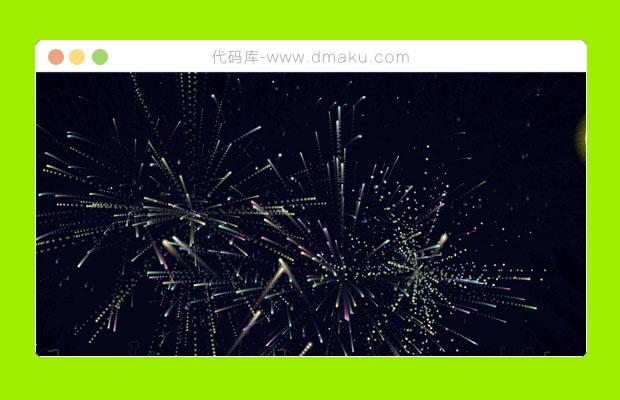 html5夜景放烟花绽放动画效果