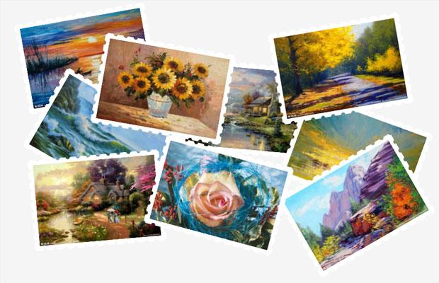jQuery邮票样式的照片墙