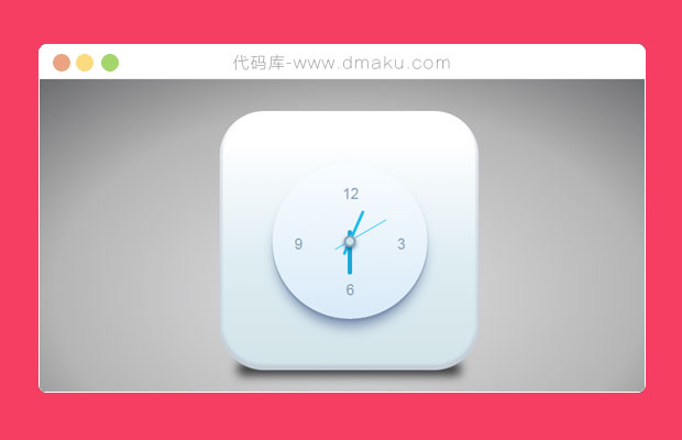 CSS3可爱的圆盘时钟