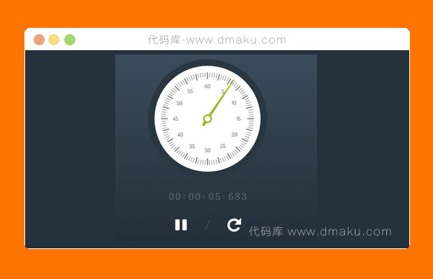 HTML5+CSS3圆盘秒表源码