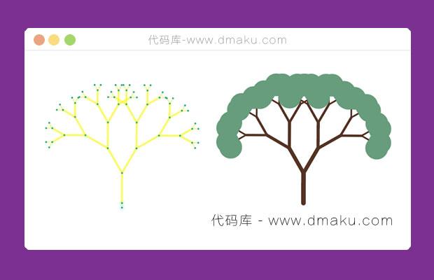 HTML5可拖动的弹性大树摇摆动画