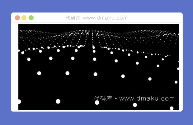 HTML5粒子波浪背景动画特效