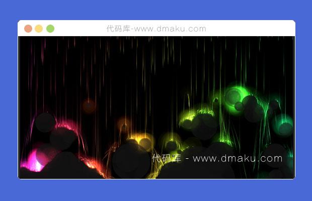 HTML5炫酷的火焰風暴動畫