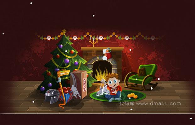 jquery圣诞祝福雪花效果代码