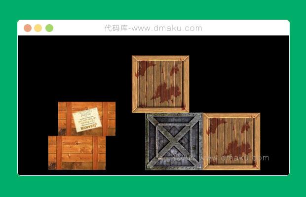 HTML5重力下落积木动画特效