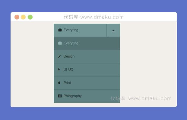 HTML5+CSS3下拉菜单导航
