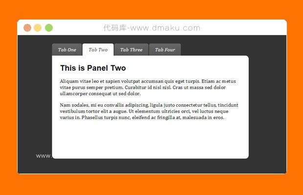 html5/CSS3外观漂亮淡入淡出Tab选项卡