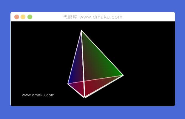 HTML5/CSS3 3D三角锥动画