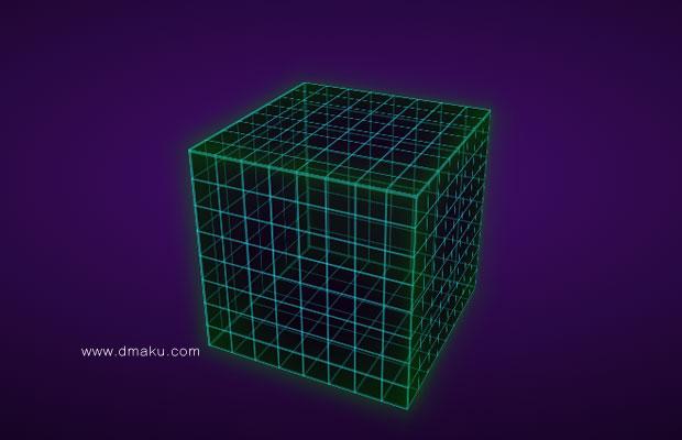 HTML5/3D立方体旋转背景动画