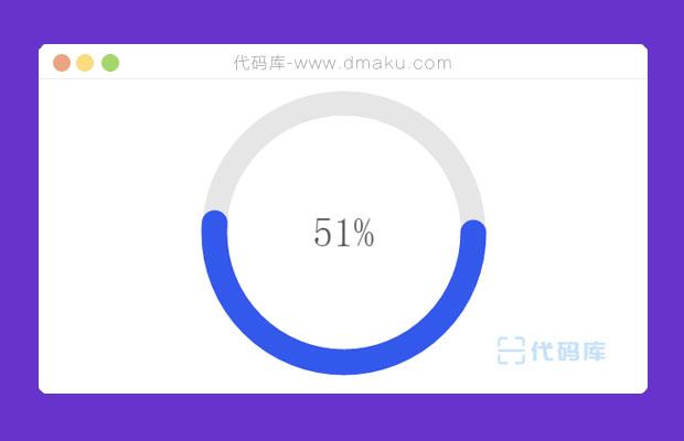 百分比圆形进度条加载插件