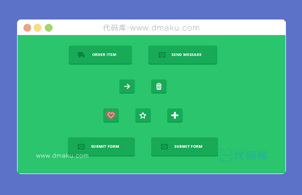 html5/css3响应式多款创意按钮组