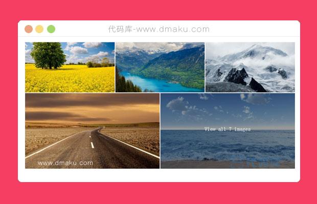 jquery图片相册展示特效代码