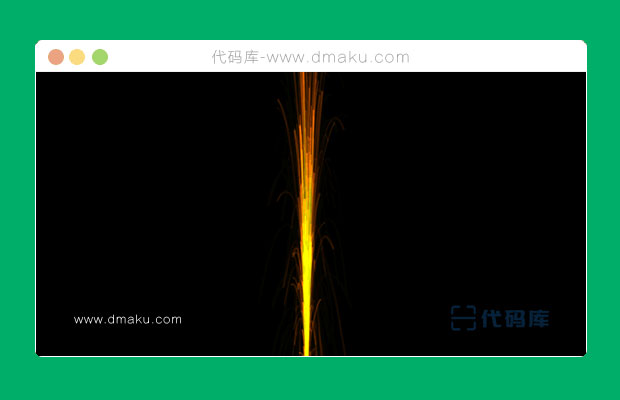 HTML5 Canvas烟花喷泉动画特效