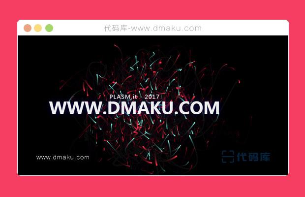 HTML5炫彩粒子動畫背景特效