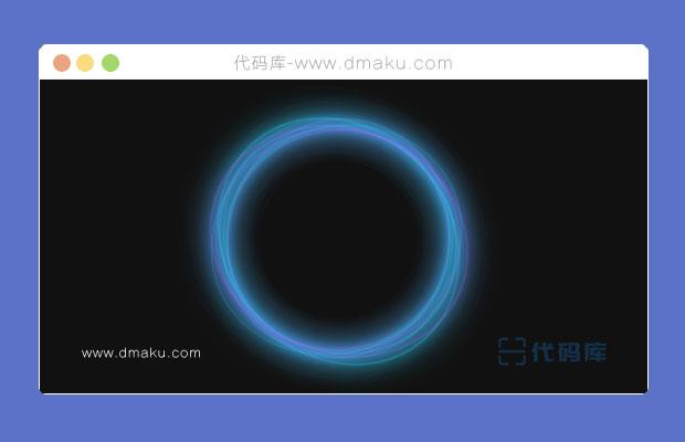 CSS3藍色光圓動畫特效