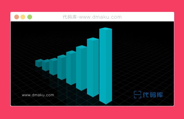 CSS3 3D立體柱狀圖表背景動畫
