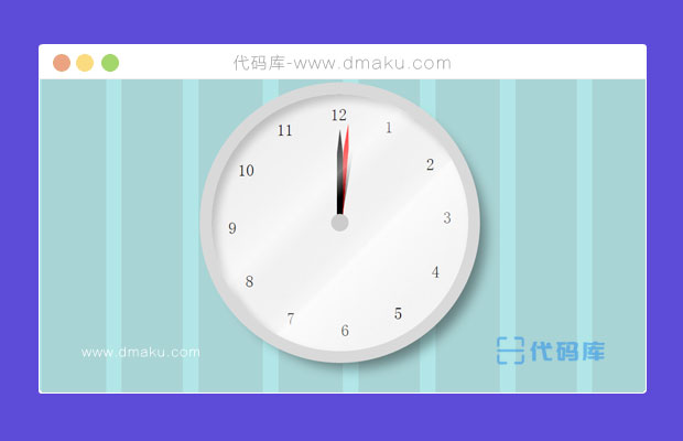 CSS3 3D立体圆盘时钟动画
