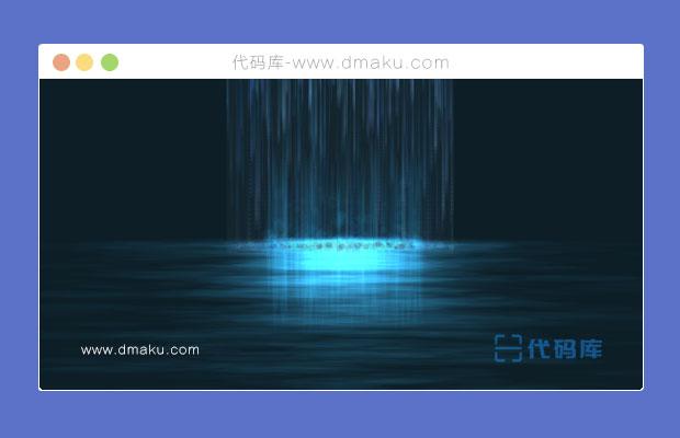 HTML5 Canvas高空瀑布下落湖面动画