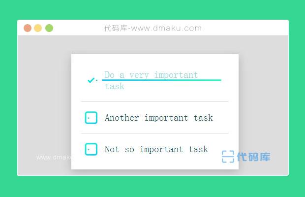 jQuery/SVG實現Checkbox商品列表選中特效