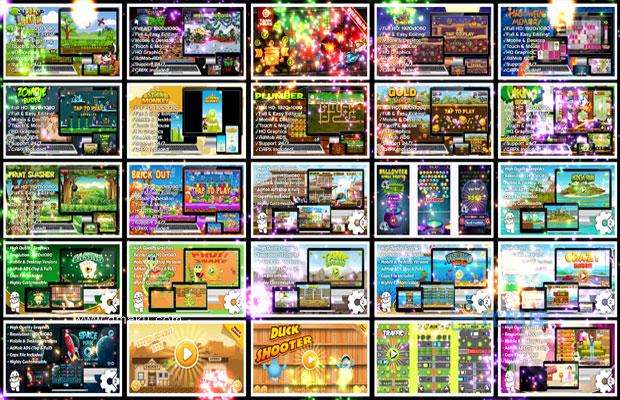 60套 h5小游戏源码 html5小游戏 js小戏游戏源码大全