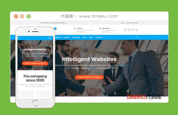 html5大气公司创建网站页面html源码模板