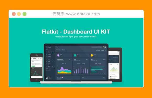 Flatkit扁平仪表盘后台html5网站模板_网站后台模板_响应式后台模板